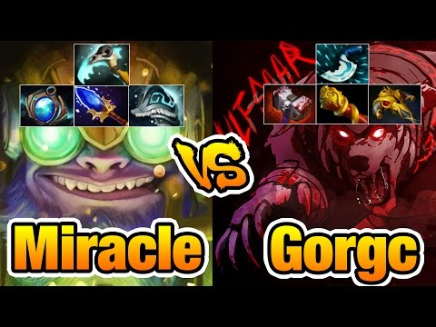 Miracle- [Tinker] vs Gorgc [Ursa] Who Got Better Team Dota2 7.03