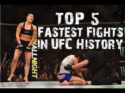 Top 5 Fastest Fights in UFC History