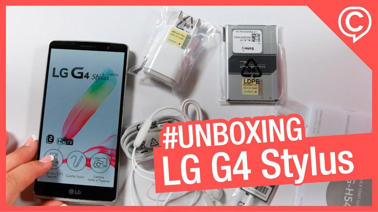 92fea8128af Unboxing LG G4 Stylus H540 - TV Digital em uma tela de 5.7