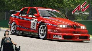 Гонка DTM 90x на великолепной Alfa Romeo 155 V6 TI - Monza - Assetto Corsa + Fanatec CSL Elite