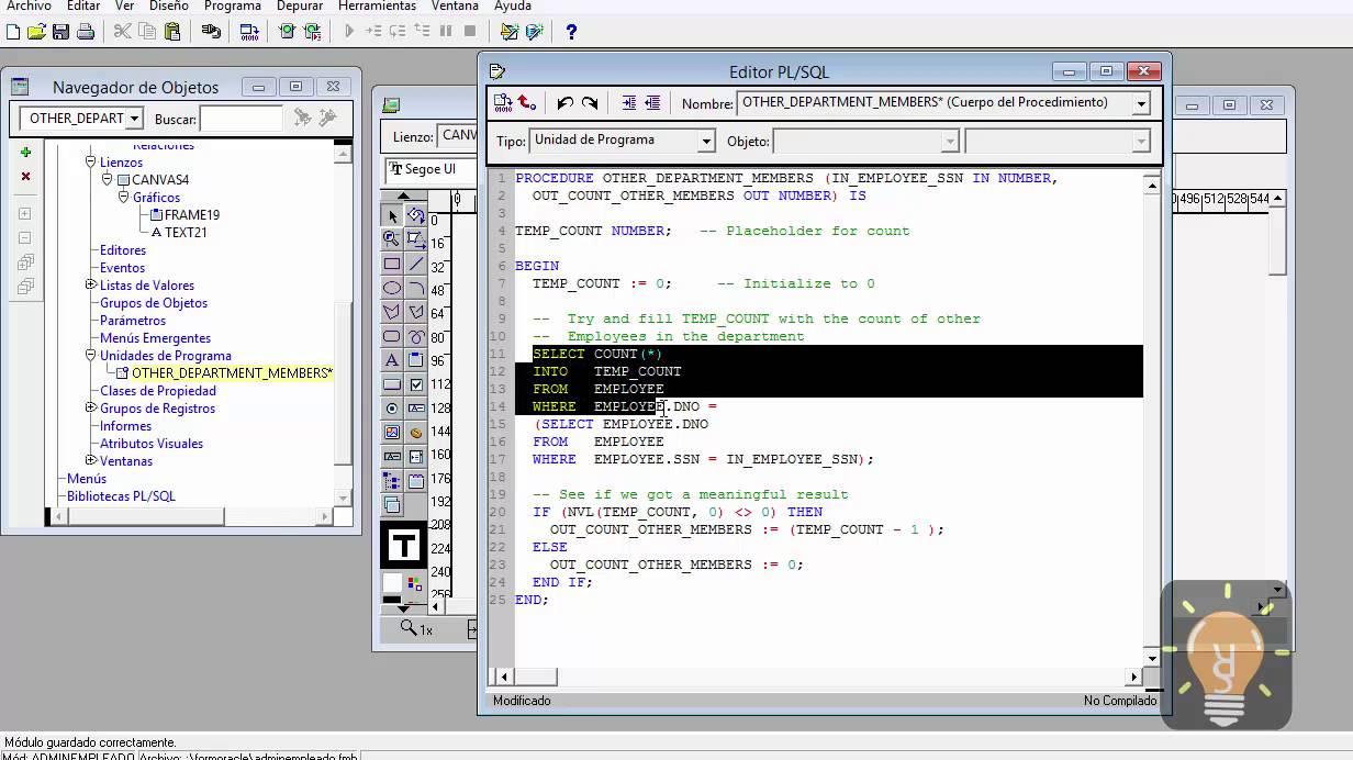 08 Oracle Forms And Reports 11g Curso en Espaol  Ejemplo