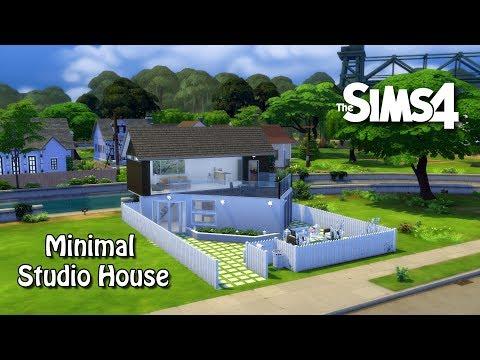 The Sims 4 House Building - Minimal Studio House  