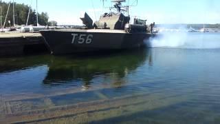 Motor Torpedo Boat T56 Fires up her Dieseles.