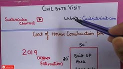 Construction cost of 1 sqft in all states   Estimation of house construction
