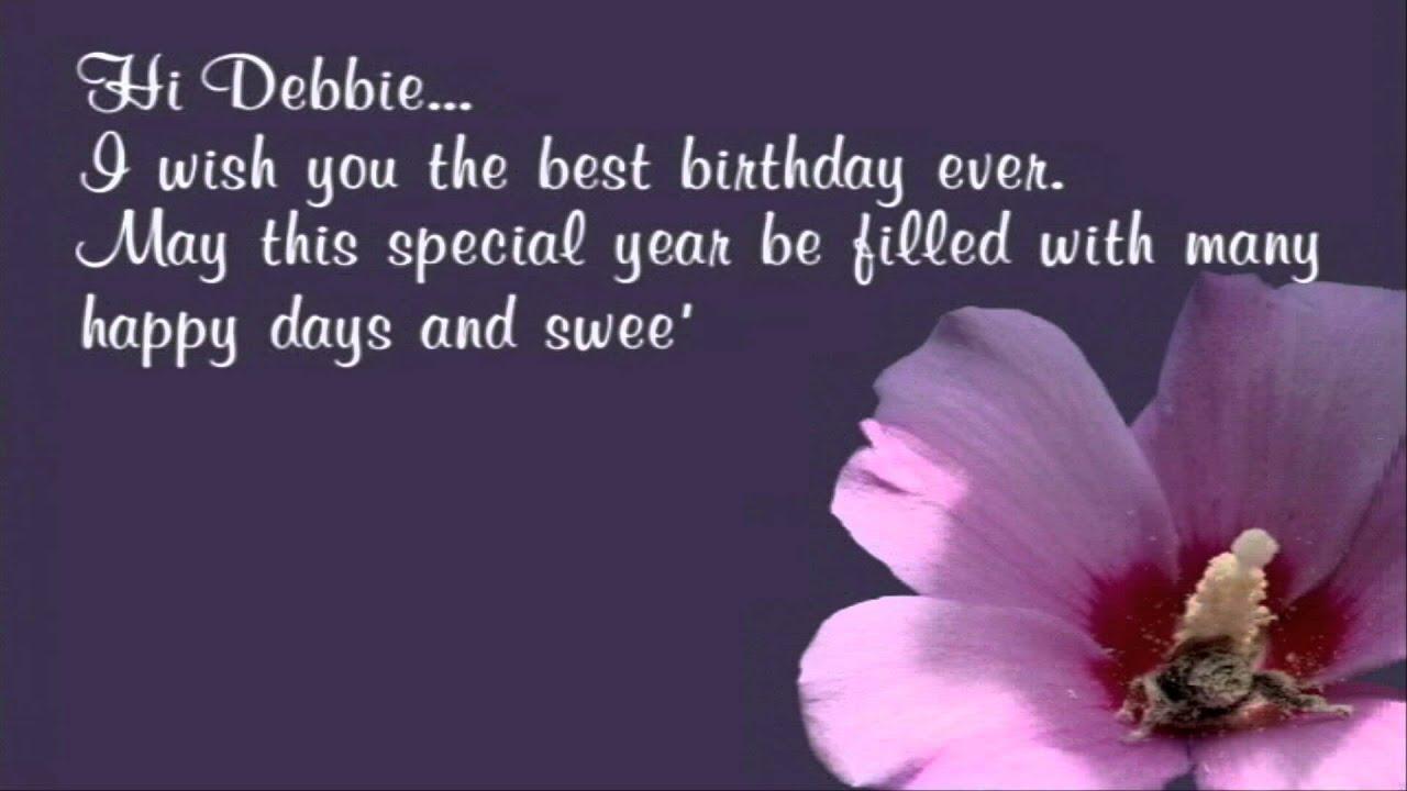 Happy Birthday Debbie Youtube