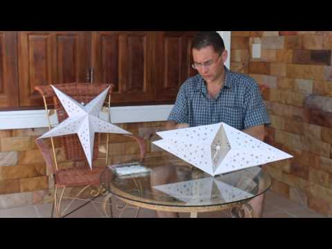 How to assemble our giant flashing star lanterns.