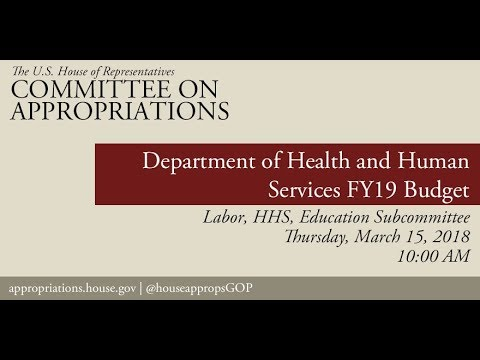 Hearing: FY19 Budget  - Department of Health and Human Services (EventID=107988)