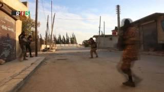 لحظة سيطرة الجيش السوري الحر على بلدة قباسين شرقي حلب