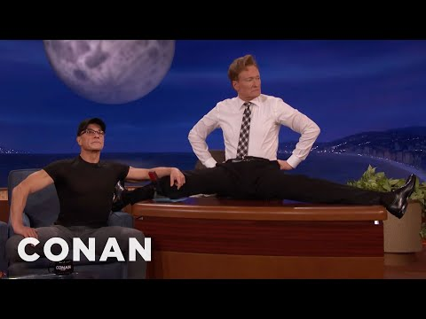 Jean-Claude Van Damme Helps Conan Limber Up  - CONAN on TBS