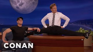 Jean-Claude Van Damme Helps Conan Limber Up  - CONAN on TBS