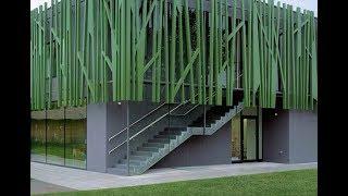 Наружная лестница стеклянное ограждение в ArchiCad. Сборно-монолитное каркасное здание в ArchiCad