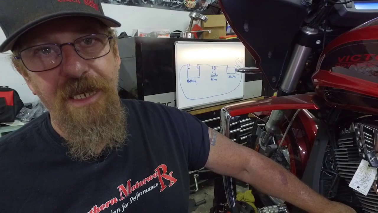 victory motorcycle starter diagnosis