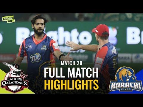 PSL 2019 Match 20: Lahore Qalandars vs Karachi Kings | Caltex Full Match Highlights