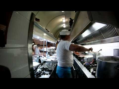 First Person View Of The Kitchen Of An Italian Restaurant