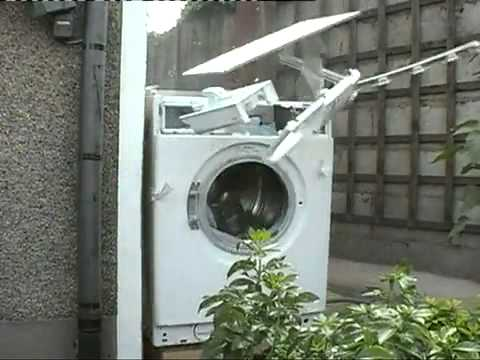 Washing Machine Vs. Rock