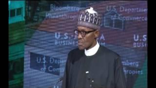 President Muhammadu Buhari Addresses US-Africa Business Forum