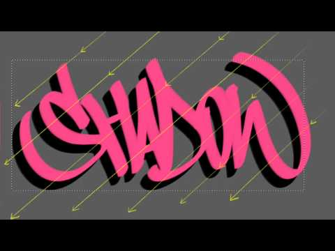How to draw drop shadow | Shadow effect for lettering and text.