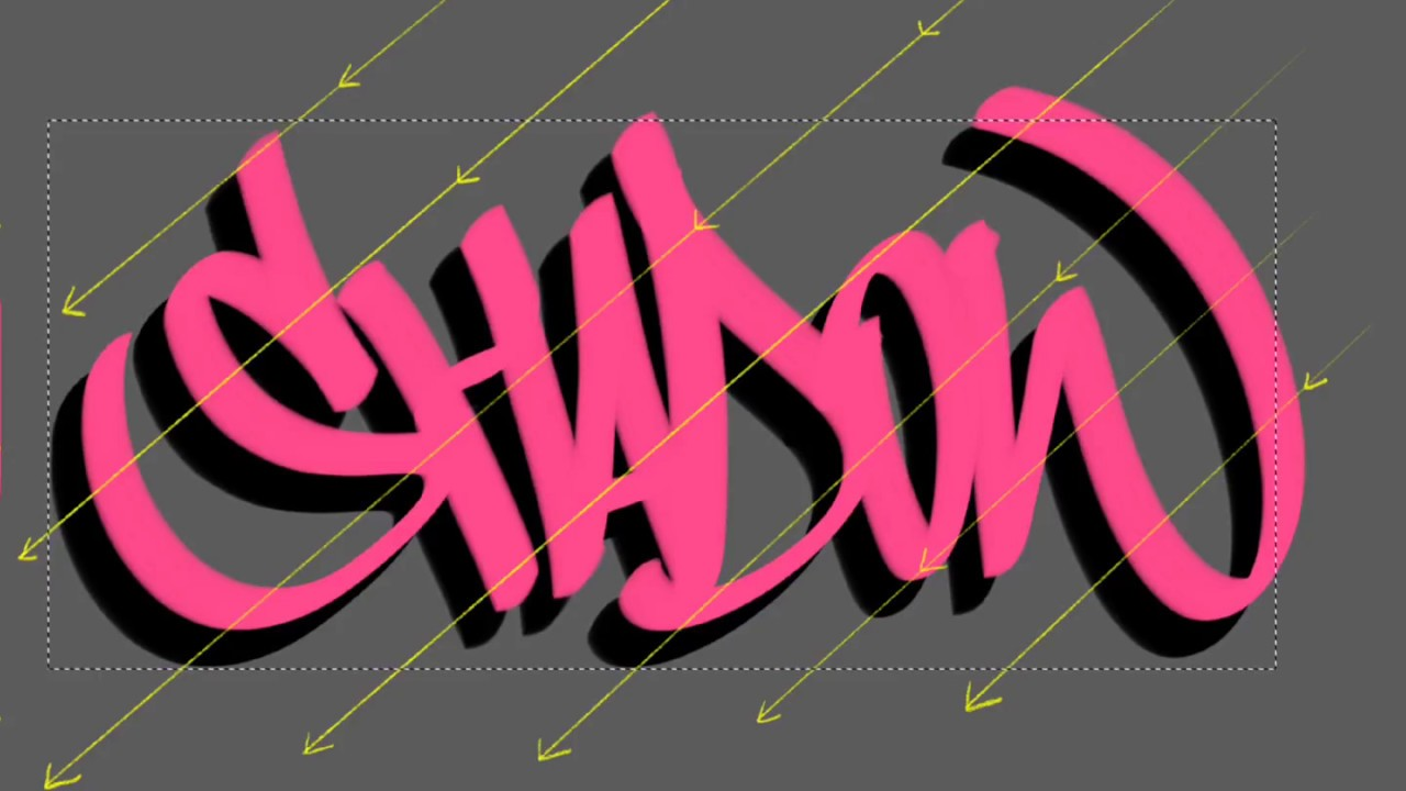 How To Draw Drop Shadow Shadow Effect For Lettering And Text