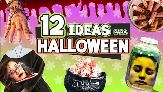 12 FÁCILES MANUALIDADES DE HALLOWEEN 🎃  Decoraciones para Halloween x Craftingeek