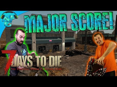 Looting the Night Away for our Biggest Haul Yet - Scavenge the Town! 7 Days to Die E43