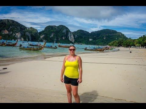 30 Minute Walk around Ko Phi Phi Don Island during the daytime in 4k