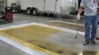 TERRCO INC. Dyeing and Polishing Concrete Demo
