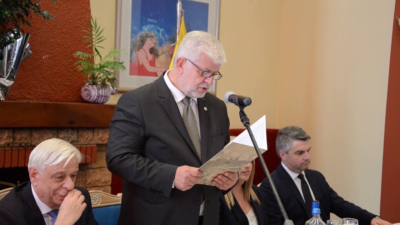 Χαιρετισμός Δημάρχου Τρίπολης προς τον Πρόεδρο της Ελληνικής Δημοκρατίας