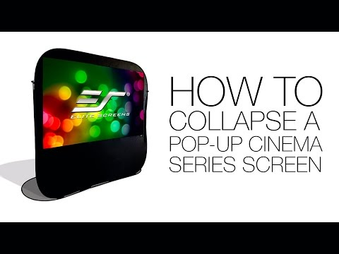Elite Screens Pop-Up Cinema Series - Collapsing the Screen How To