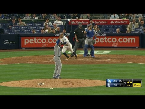 LAD@SD: Garcia gets the last out to finish shutout