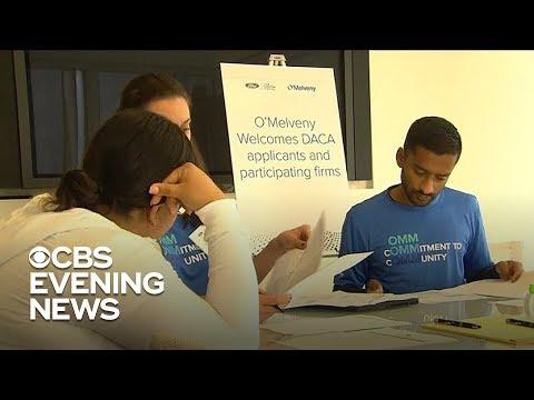 People renew their DACA application