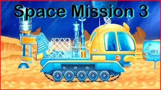 Build & Play Kids Space 3D Construction Machine Puzzles ipad App demo MOON DRILL (Trucks & Vehicles)