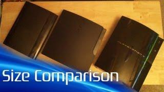 Super Slim PS3 Size Comparison