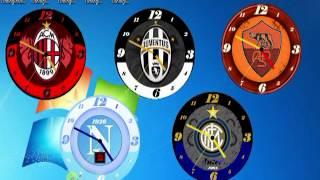 Widget Orologio di calcio Juventus,Milan,Napoli,Roma,Inter,per Windows desktop