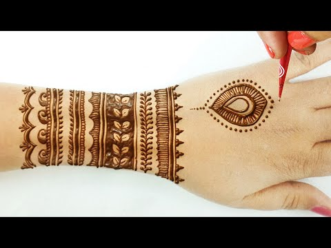 Stylish Full Hand Mehndi Design 2020 - Simple Backhand Mehndi Design -आकर्षक मेहँदी लगाने का  तरीका