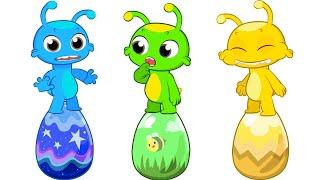 Узнайте как рисовать и рисовать с Груви Марсианские образовательные мультфильмы и детские стишки
