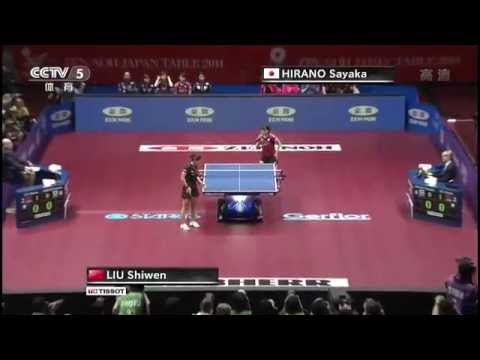 2014 WTTTC (WT-Final/CHN-JPN/m3) LIU Shiwen - HIRANO Sayaka [HD] [Full Match/Chinese]