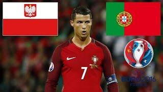RONALDO TIR AU BUT POLOGNE - PORTUGAL Euro 2016