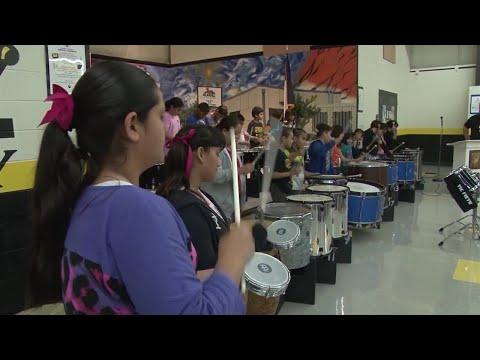 Francisca Alvarez Elementary School Drum line donation