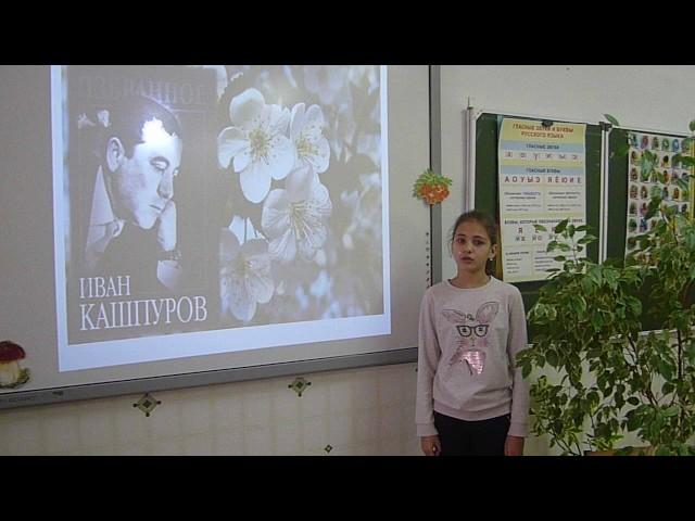 Изображение предпросмотра прочтения – ЕлизаветаИващенко читает произведение «Цветут сады» И.В.Кашпурова