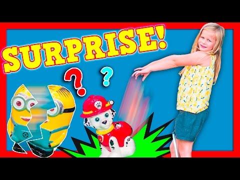 ASSISTANT PIGGY BANK Surprise Frozen + paw Patrol Surprise Piggy Bank Funny Kids Toys Video