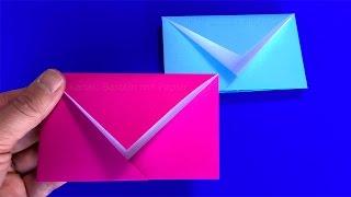 Origami Briefumschlag falten:  Einfachen DIY Brief basteln mit Papier - Basteln Ideen