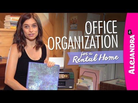 Home Office Organization Ideas (Rental Home)