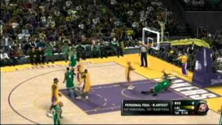 NBA 2K11 Demo Gameplay Lakers Vs Celtics Playstation 3 PS3