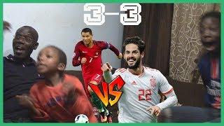 REACTION EPICA CON MIO PADRE!! PORTOGALLO vs SPAGNA [3-3] RONALDOOOO!!