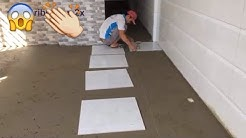 Floor Tile Installation Process - 60x60 cm polished tiles - building technology