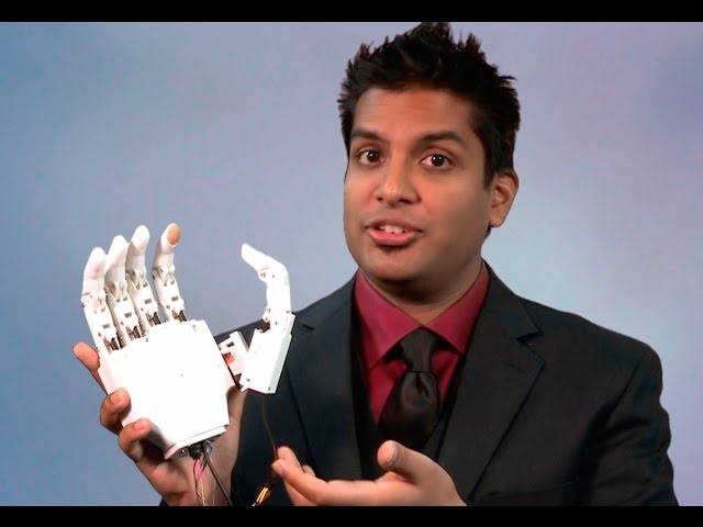 A screenshot from Building a Better Hand: A Low-Cost, High-Tech, 3D-Printed Prosthesis for the World