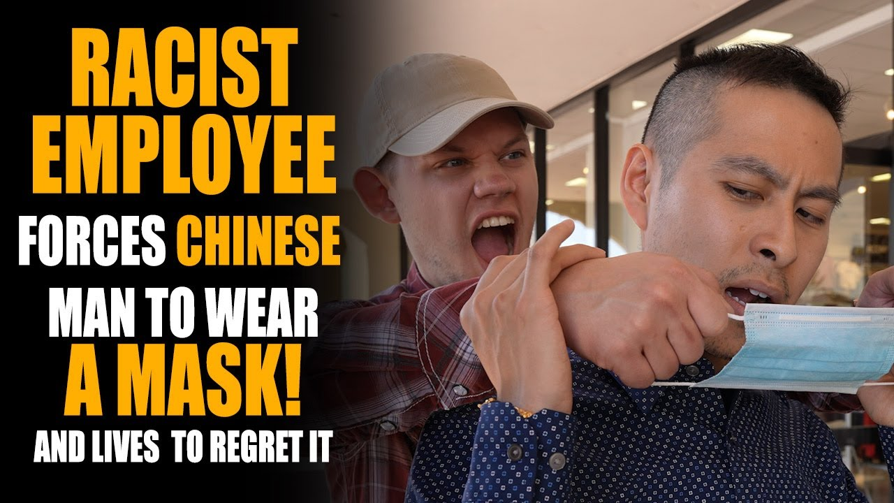 Racist Employee FORCES Chinese to Wear Face Mask, He Gets Slapped! | Sameer Bhavnani