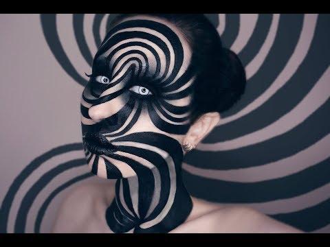 Spiral Illusion Halloween Makeup Tutorial