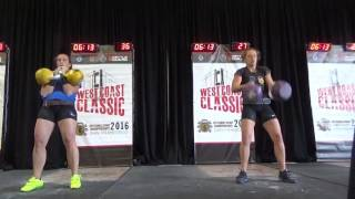 KB Fit Britt 2x20kg Long Cycle 69 repetitions - West Coast Classic 2016