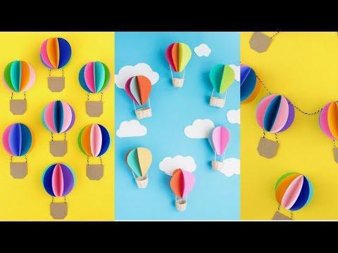 Diy Paper Hot Air Balloon Decor You